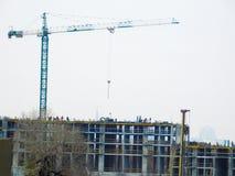 Tipos de construcción de los edificios de la ciudad Imágenes de archivo libres de regalías