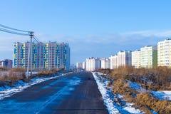 Tipos de construcción de los edificios de la ciudad Fotografía de archivo libre de regalías