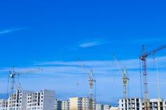 Tipos de construcción de los edificios de la ciudad Imagenes de archivo