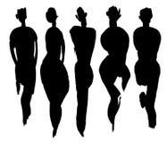 Tipos de corpo ajustados Fotografia de Stock
