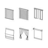 Tipos de cortinas Fotos de archivo