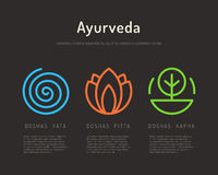 Tipos de cuerpo de Ayurveda 01 Imagen de archivo