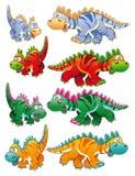 Tipos de dinosaurios Imágenes de archivo libres de regalías