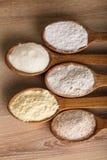 Tipos de farinha Fotos de Stock