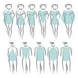 Tipos de figura femenina Imagenes de archivo