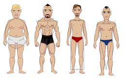 Tipos de figura masculina Imágenes de archivo libres de regalías