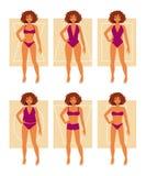 Tipos de figuras fêmeas ilustração stock
