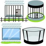 Tipos de jaulas en el parque zoológico libre illustration