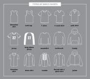 Tipos de las camisas de los hombres libre illustration