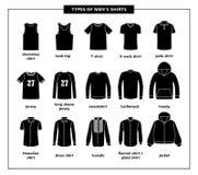 Tipos de las camisas de los hombres ilustración del vector