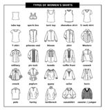 Tipos de las camisas de las mujeres libre illustration