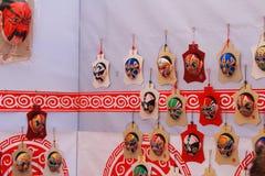 Tipos de maquillaje facial en óperas Imagenes de archivo