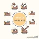 Tipos de masaje Imagen de archivo libre de regalías