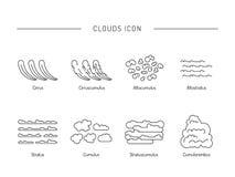 Tipos de nubes la atmósfera Imagen de archivo