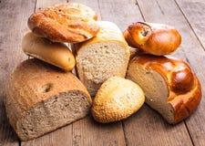 Tipos de pão imagens de stock