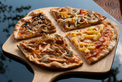 4 tipos de pizza Foto de Stock Royalty Free
