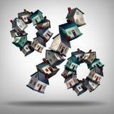 Tipos de préstamo hipotecario caseros stock de ilustración