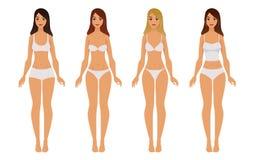 Tipos de ropa interior de la mujer Foto de archivo libre de regalías