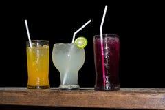 3 tipos de suco Imagens de Stock