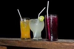 3 tipos de suco Imagens de Stock Royalty Free