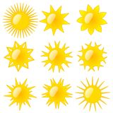 Tipos de Sun Imagens de Stock Royalty Free