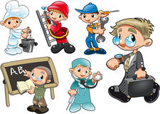 Tipos de trabalhador ilustração do vetor