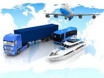 Tipos de transporte Imagenes de archivo