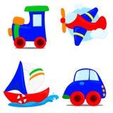 Tipos de transporte Imagens de Stock