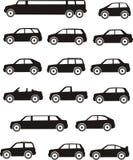 Tipos del coche Imagen de archivo libre de regalías