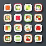 Tipos del sushi de Maki Fotos de archivo libres de regalías