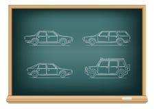 Tipos del tablero de coches Imágenes de archivo libres de regalías