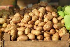 Tipos diferentes da batata no mercado Imagens de Stock Royalty Free