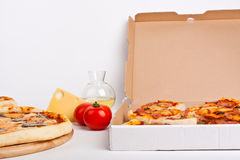 Tipos diferentes da pizza Imagem de Stock Royalty Free