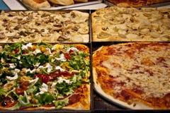 Tipos diferentes da pizza italiana Foto de Stock Royalty Free