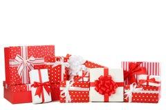 Tipos diferentes das caixas de presente Foto de Stock Royalty Free