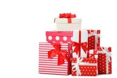 Tipos diferentes das caixas de presente Fotografia de Stock Royalty Free