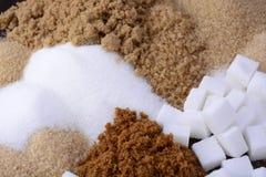 Tipos diferentes de açúcar Fotografia de Stock Royalty Free
