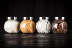Tipos diferentes de açúcar Imagem de Stock Royalty Free
