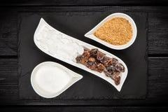 Tipos diferentes de açúcar Foto de Stock Royalty Free