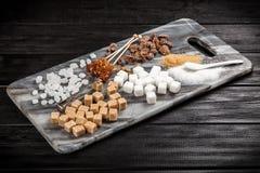 Tipos diferentes de açúcar Fotos de Stock Royalty Free
