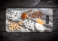 Tipos diferentes de açúcar Imagens de Stock Royalty Free
