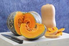 Tipos diferentes de abóbora e de polpa Imagem de Stock Royalty Free