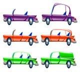 Tipos diferentes de carro Fotografia de Stock Royalty Free