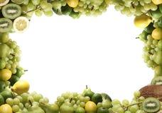 Tipos diferentes de frutas verdes Foto de Stock