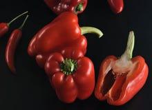 Tipos diferentes de pimentas - pimentas de pimentão Imagem de Stock Royalty Free