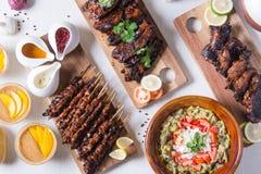 Tipos diferentes de pratos filipinos do assado Imagem de Stock