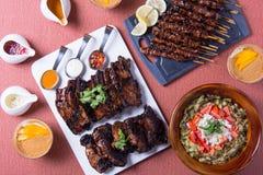 Tipos diferentes de pratos filipinos do assado Imagem de Stock Royalty Free