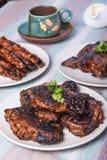 Tipos diferentes de pratos filipinos do assado Foto de Stock Royalty Free