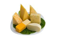 Tipos diferentes de queijo Imagem de Stock Royalty Free