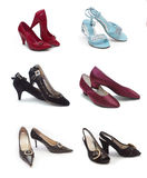 Tipos diferentes de sapatas da mulher foto de stock